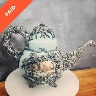 Alice in Wonderland Teapot Cake