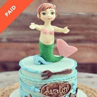 Baby Mermaid Topper