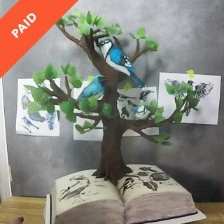 Birds in a Tree Cake