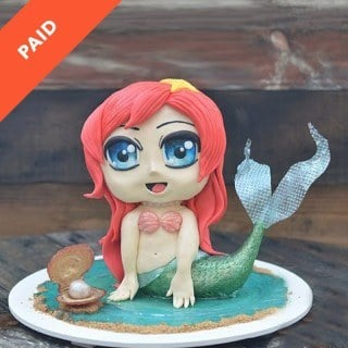 Chibi Mermaid Cake