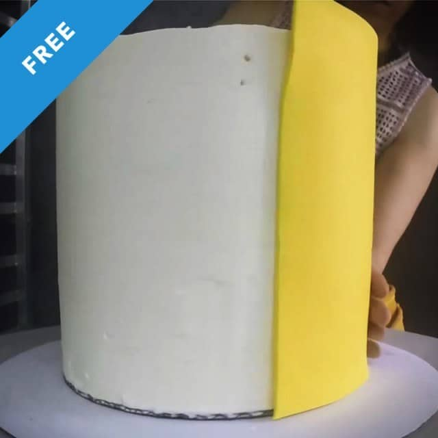 Paneling a Double Barrel Cake in Fondant