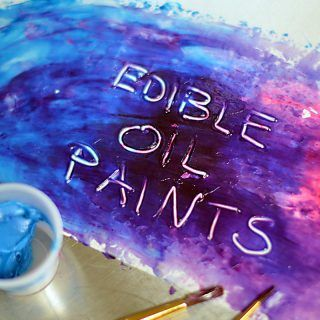 Edible oil paint recipe for cake decorating tutorial
