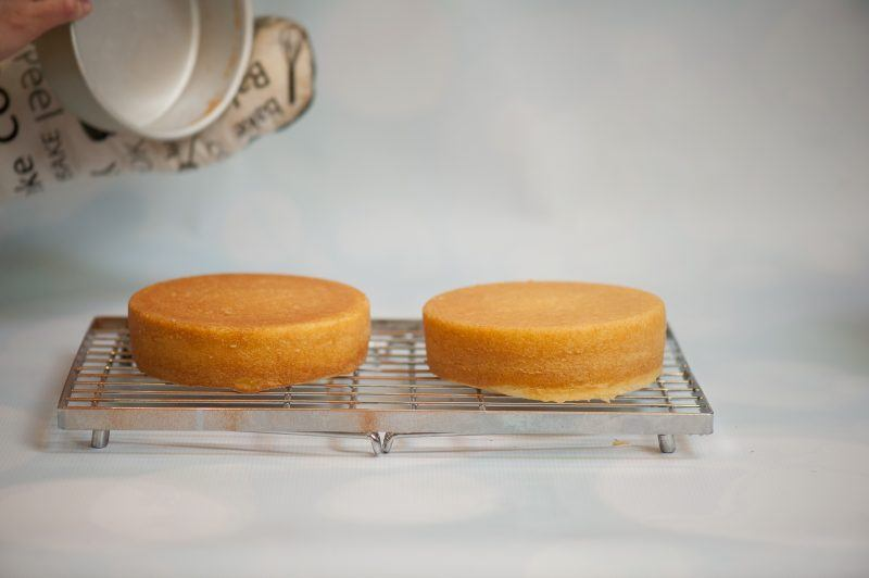 flip cakes out of pans after 10 minutes onto cooling rack