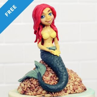 Mermaid Cake Topper Cake Tutorial