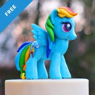 Rainbow Dash My Little Pony Topper