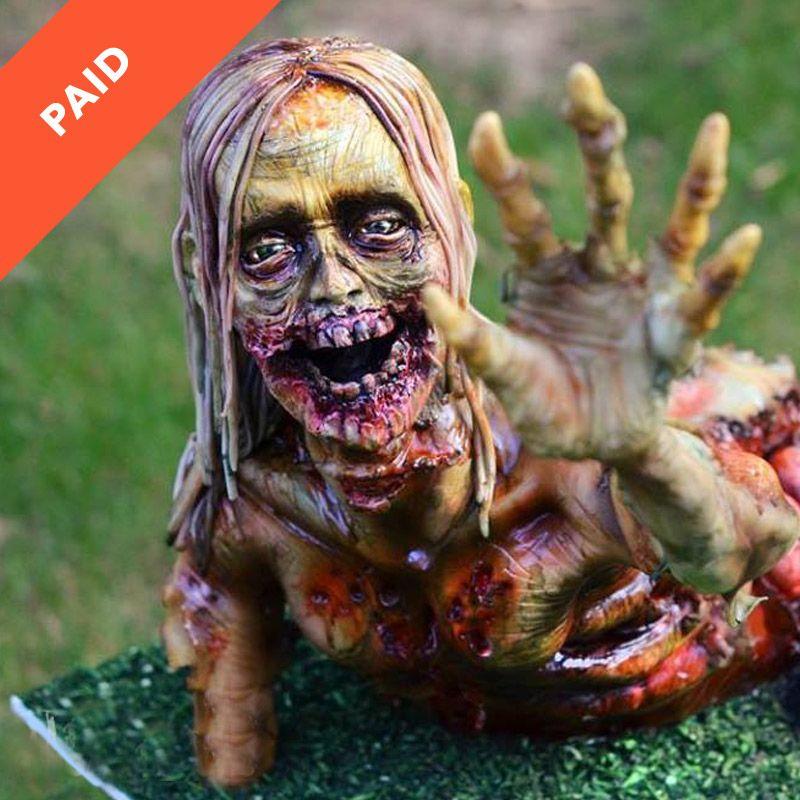 Scary Zombie Cake