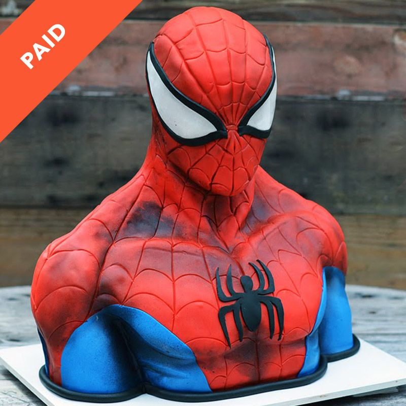 Spider man cake for Spiderman template for cake
