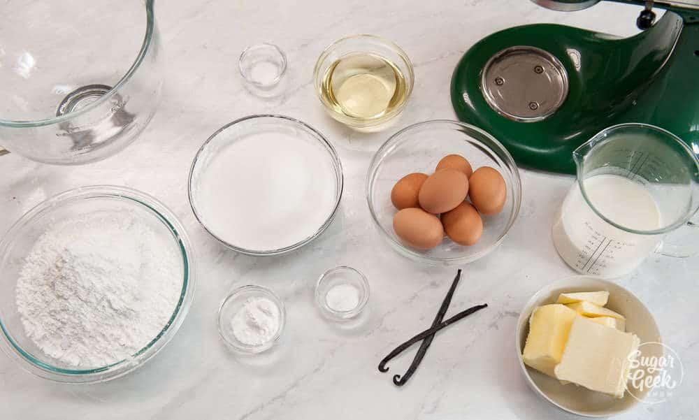vanilla cake recipe ingredients