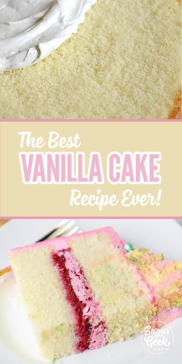 Best vanilla cake recipe with a moist and tender crumb