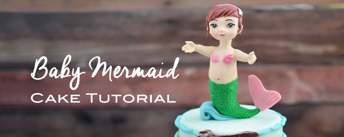 Baby Mermaid Birthday Cake Tutorial
