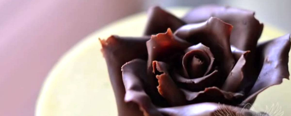Chocolate rose tutorial
