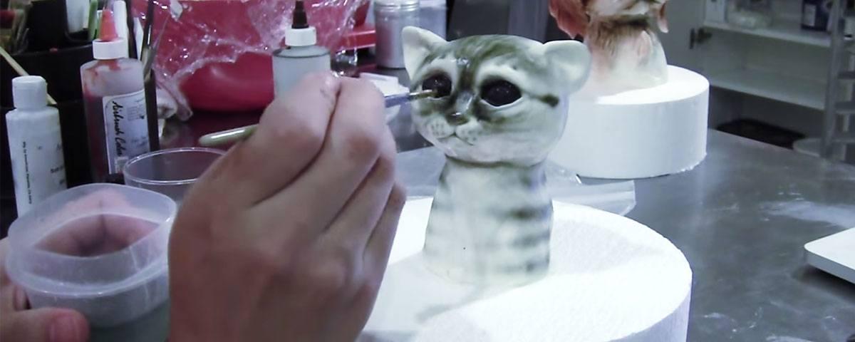 Cute kitten cat topper for cakes tutorial
