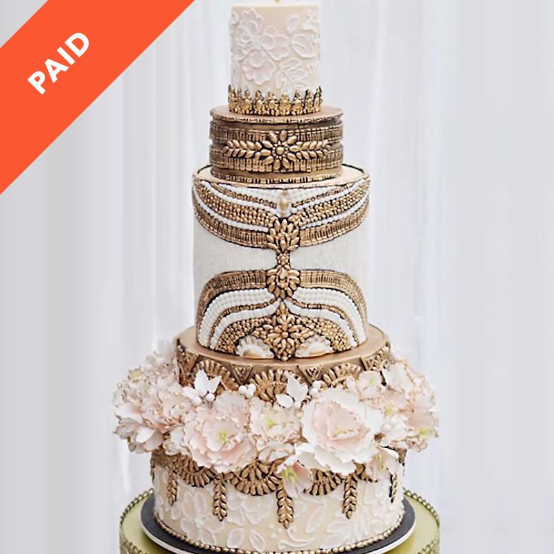 hollywood wedding cake cake sugar show 15273