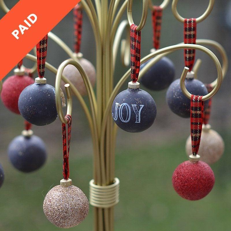 - Christmas Ornament Cake Pops