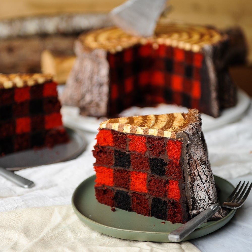 Lumberjack Cake Plaid On The Inside Free Tutorial