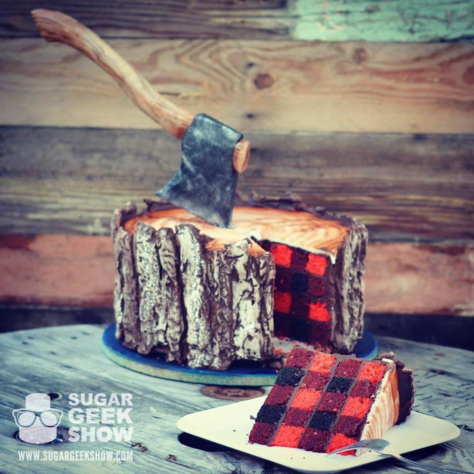 plaid lumberjack cake on instagram
