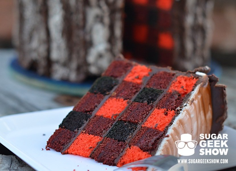 plaid lumberjack cake on sugar geek show