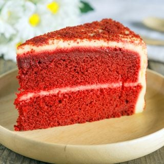 bright red cake