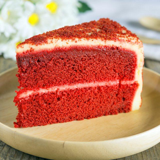 bright red cake