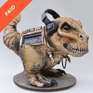 T-Rex Dinosaur Walkman Cake