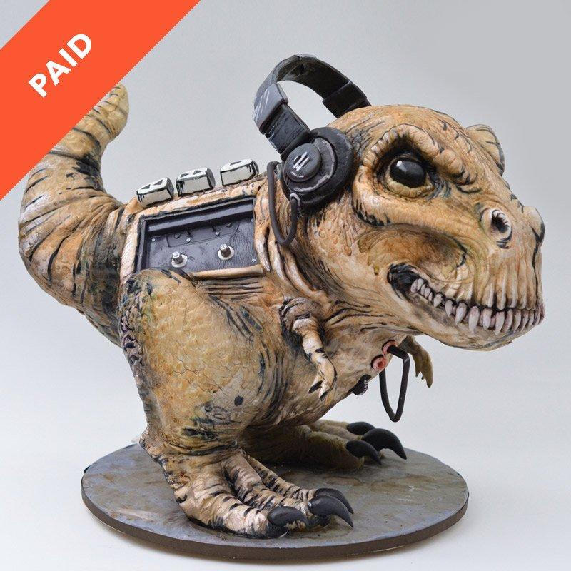 Tyrannosaurus Walkman Cake Tutorial Sugar Geek Show