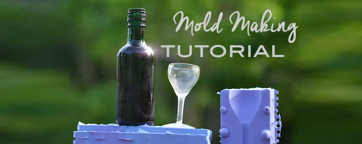 Wine-themed mold making tutorial for making edible wine glasses out of isomalt and sugar