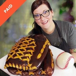 Baseball Glove Cake Tutorial by Sara Myers