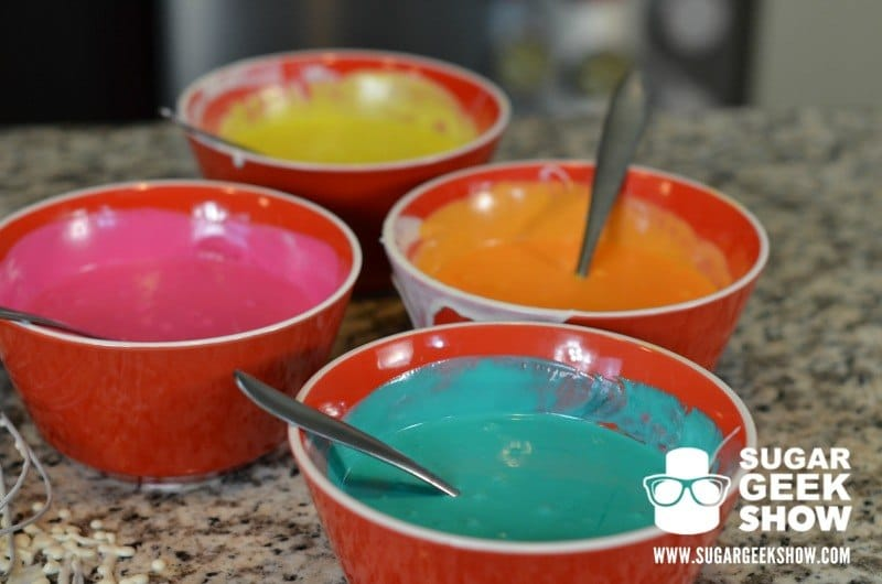 Bowls of Rainbow Ganache