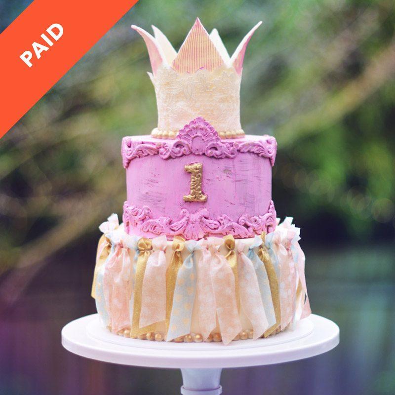 Vintage Birthday Cake Sugar Geek Show