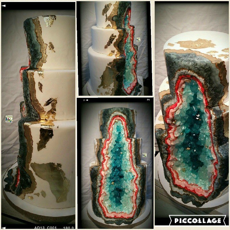 Andi Brown Geode Cake