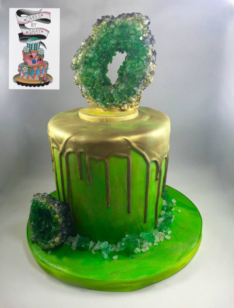 Melissa Gray Geode Cake