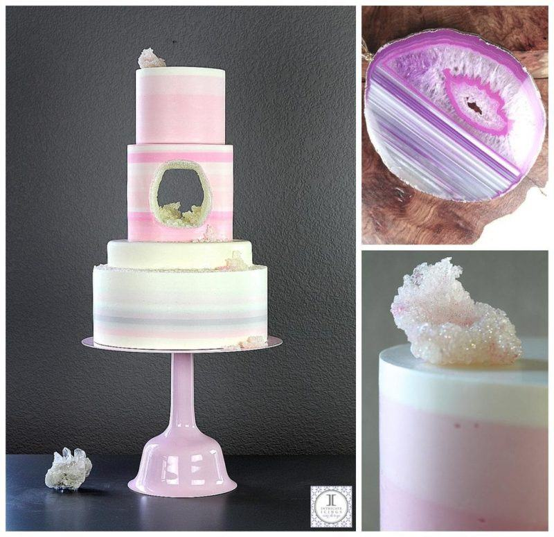 Rachael Teuful Geode Hole Cake