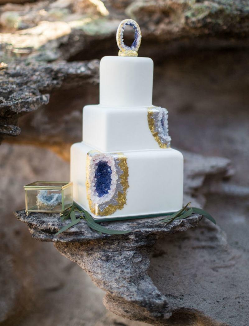 Desert Geode Cake