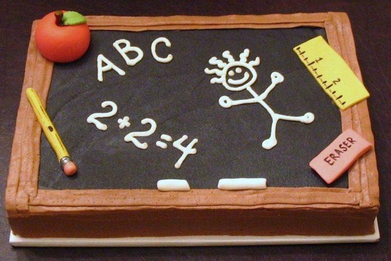 School Chalkboard Cake
