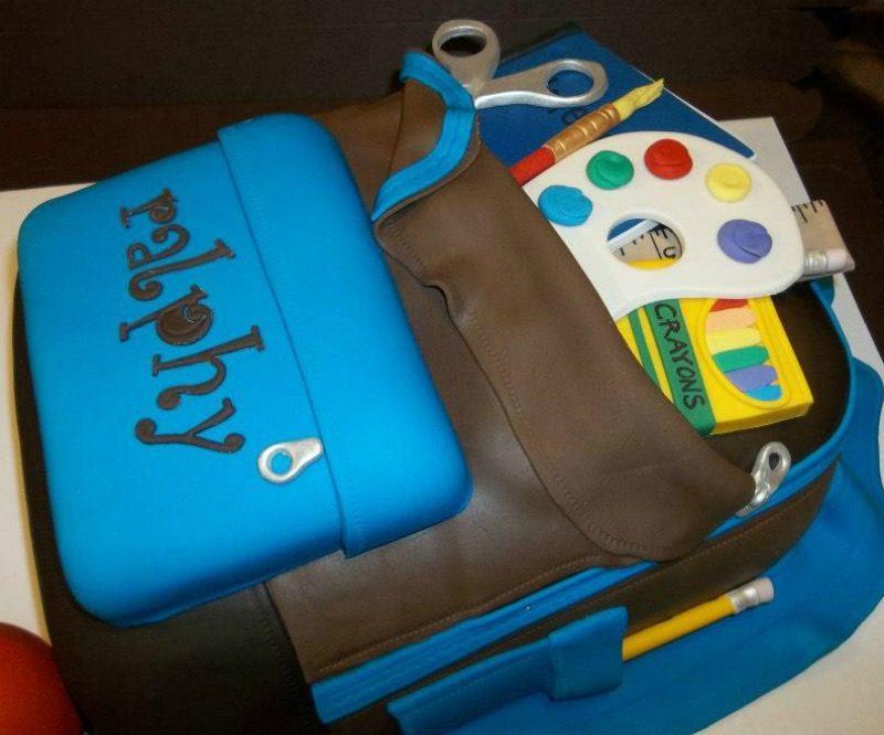 School Backpack Cake
