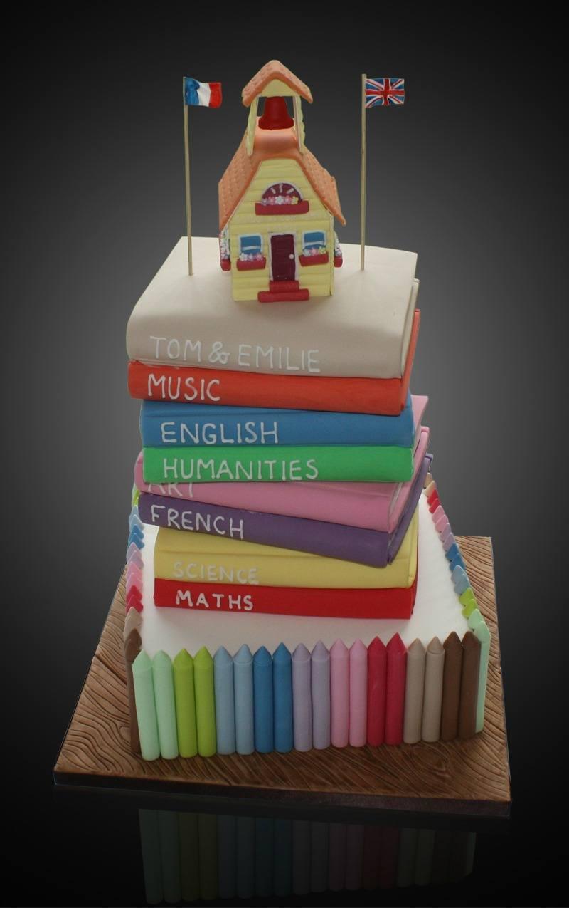 School House Book Cake
