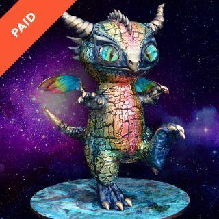 Space Dragon cake tutorial square thumbnail