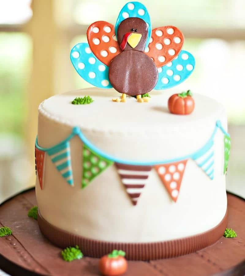 Cute Thanksgiving Cake
