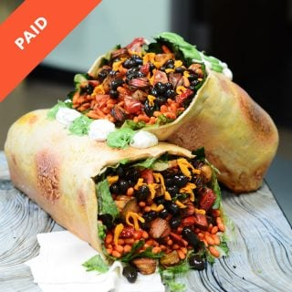 edible burrito cake sugar tomato wafer paper lettuce black beans mexican rice cheese tortilla cake tutorial