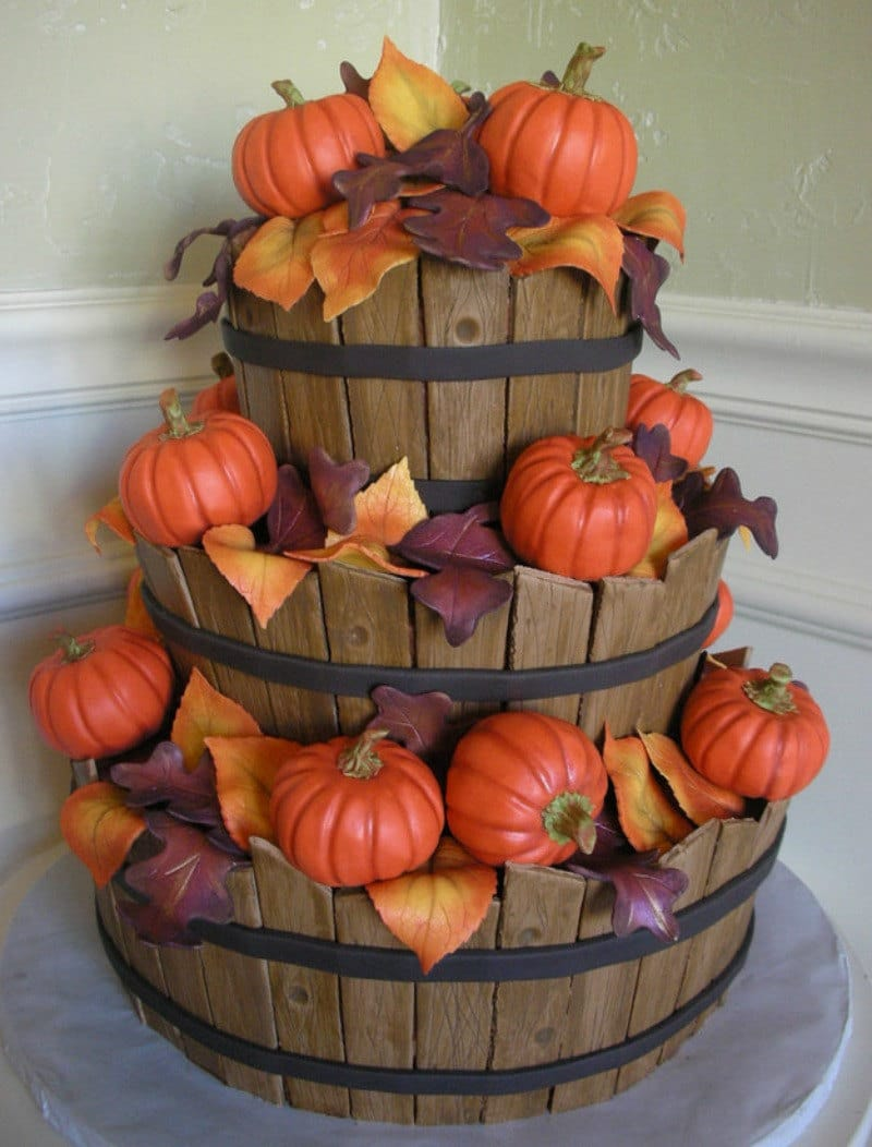 Barrel of Pumpkins Cake