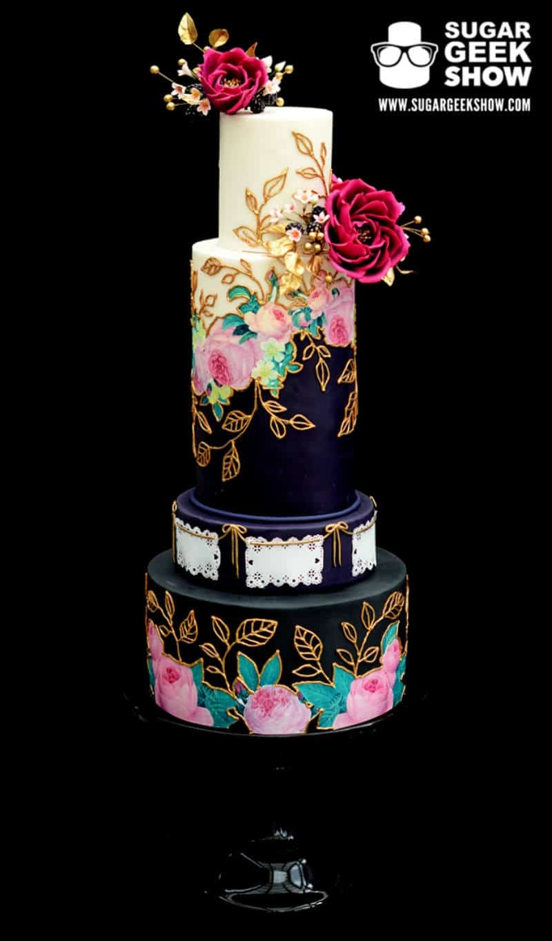 Mexican Wedding Cakes.Elegant Wedding Cake Meets Mexican Culture