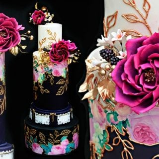Jewel Toned Mexican Wedding Cake