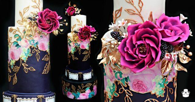 Jewel Toned Mexican Wedding Cake