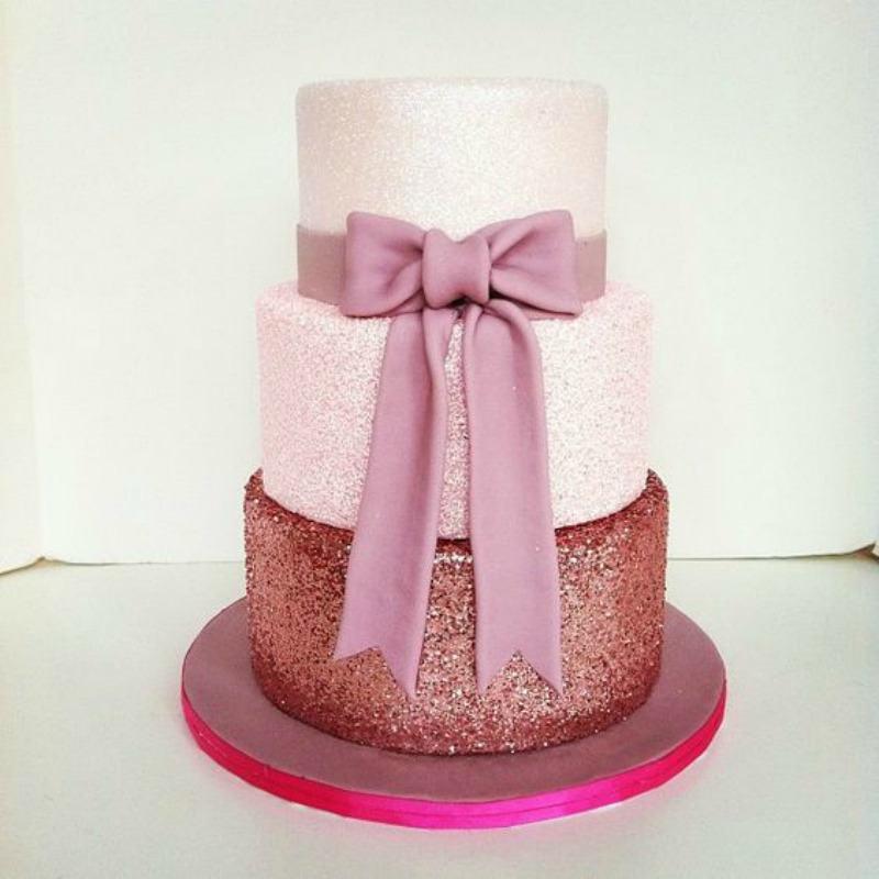 Copper Glitter Cake