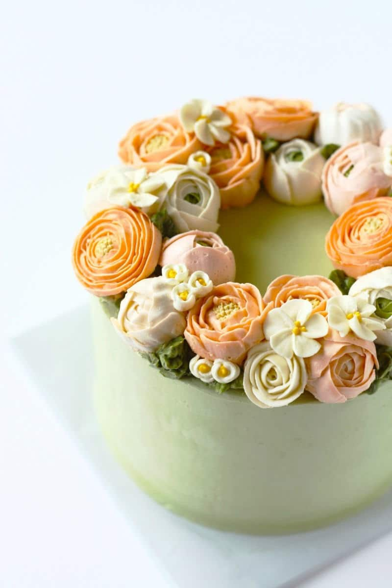 Buttercream Wreath Cake