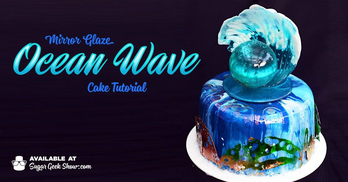 Mirror Glaze Ocean Wave Cake