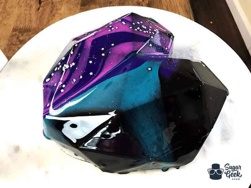 mirror cake galaxy