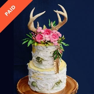 Boho Birch Cake Tutorial