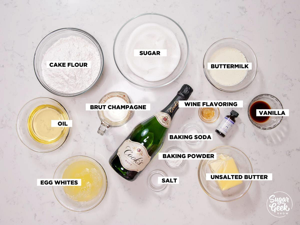 champagne cake ingredients