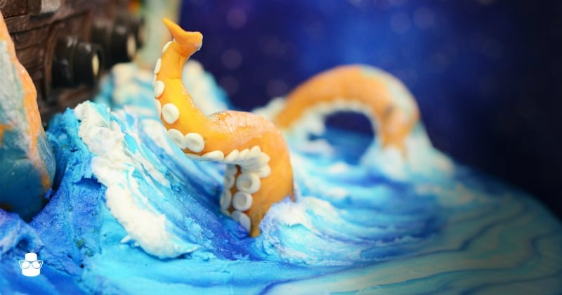 Edible Kraken Tentacles Buttercream Waves